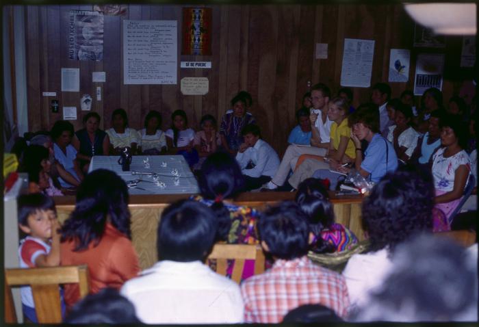 1984 - members of GAM meet in the PBI house in Guatemala City.
