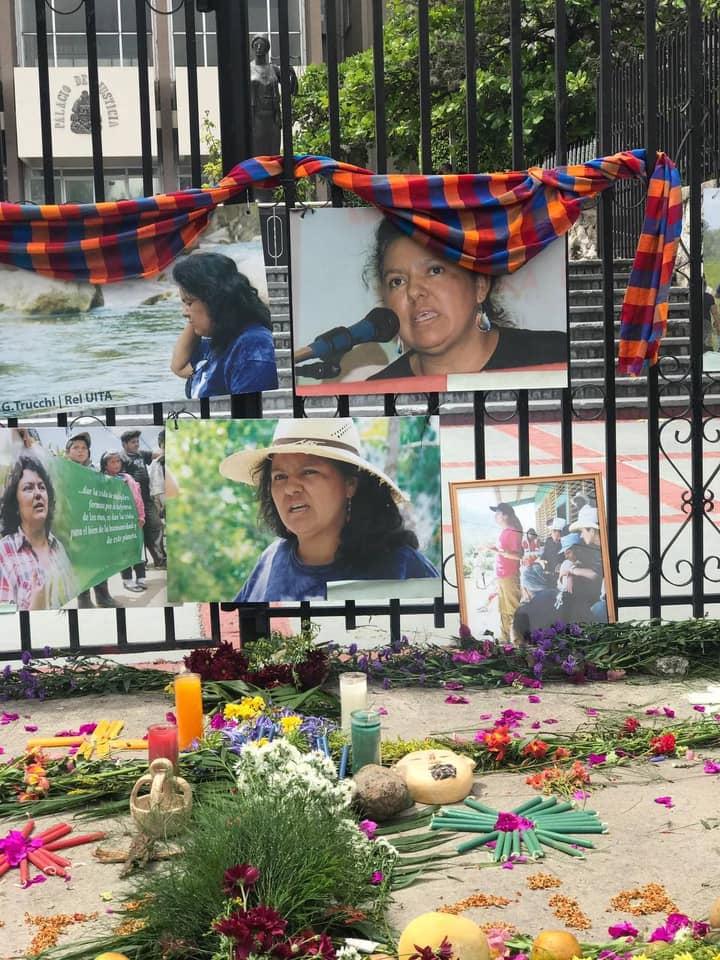 An alter honoring Berta Caceres