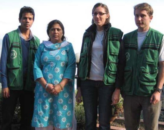 PBI volunteers accompany WHRD Devi Sunuwar in Nepal